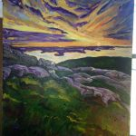 Maine painting in Acadia National Park
