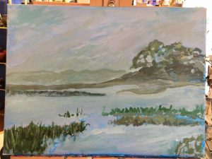 painting unfinished