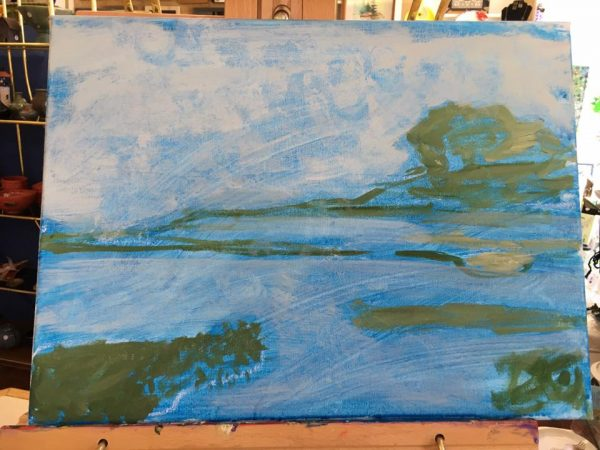 Goose River painting at the beginning