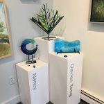 ocean inspired fused glass art