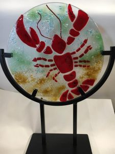 glass art - lobster