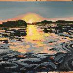 Painting of Verona sunrise